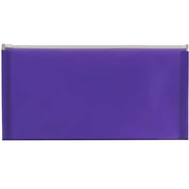 JAM Paper® #10 Plastic Envelopes with Zip Closure, 5 x 10, Purple Poly, 12/Pack (921Z1pu)