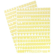 JAM Paper® Self Adhesive Alphabet Letters Stickers, Yellow, 372/pack (2132817358)