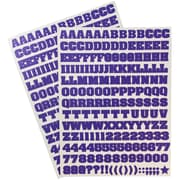 jam paper self adhesive alphabet letters stickers purple 372pack 2132817355