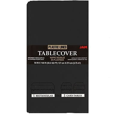JAM Paper® Paper Table Covers, Black Table Cloths, Sold Individually (291323328)