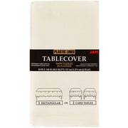 JAM Paper® Paper Table Covers, Ivory Table Cloths, Sold Individually (291323332)