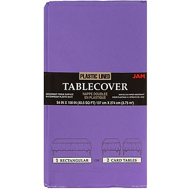 JAM Paper® Paper Table Covers, Purple Table Cloths, Sold Individually (291323335)