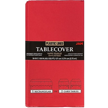 JAM Paper® Paper Table Covers, Red Table Cloths, Sold Individually (291323336)