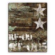 Click Wall Art 'RF-09 Typography and Stars' Graphic Art  on Plaque; 20'' H x 16'' W x 1'' D