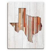Click Wall Art 'Texas Lumber' Wall Art on Plaque; 30'' H x 20'' W x 1'' D
