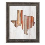 Click Wall Art 'Texas Lumber' Framed Wall Art; 23.5'' H x 19.5'' W x 1'' D
