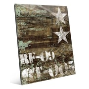 Click Wall Art 'RF-09 Typography and Stars' Graphic Art; 14'' H x 11'' W x 1'' D