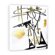 Two Palms Art Bazaar 'Rich Girl' by Jenny Perez Painting Print on Plaque; 37.5'' H x 30'' W x 1'' D