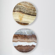 Two Palms Art Bazaar 'Subcutaneous Earth' 2 Piece Graphic Art on Plaque Set; 15'' H x 15'' W x 1'' D