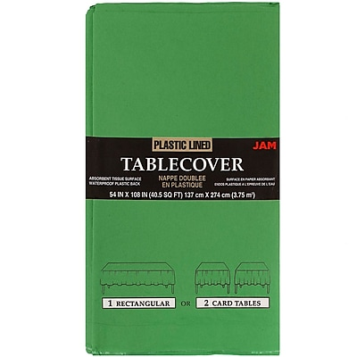 JAM Paper Paper Table Covers Green Table Cloths Sold Individually 291329699
