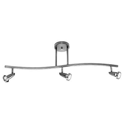 Access Lighting Mirage 3 Light Full Track Lighting Kit; Brushed Steel WYF078279089358