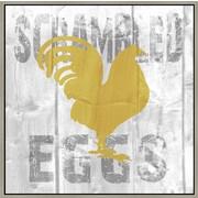 Green Leaf Art 'Scrambled Eggs' Framed Textual Art on Canvas; 24'' H x 24'' W x 1.5'' D