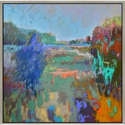 Green Leaf Art 'Color Field 45' Framed Painting Print on Canvas; 12'' H x 12'' W x 1.5'' D