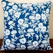 Artisan Pillows Peony Flowers Sateen Indoor Sateen Cotton Throw Pillow