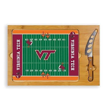 Picnic Time NCAA Football Icon Cutting Cheese Tray; Virginia Tech University Hokies