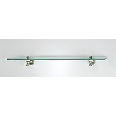 Afina Radiance Gear Tilt 24'' W Bathroom Shelf; Satin Nickel