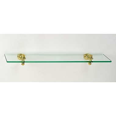 Afina Radiance Gear Tilt 24'' W Bathroom Shelf; Polished Brass