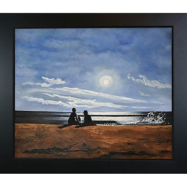 Tori Home Moonlight by Winslow Homer Framed Painting Print
