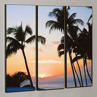 Wilson Studios Ka'anapali Sunset 3 Piece Photographic Print Set