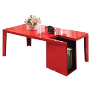 Hokku Designs Zedd Coffee Table w/ Magazine Rack; Red