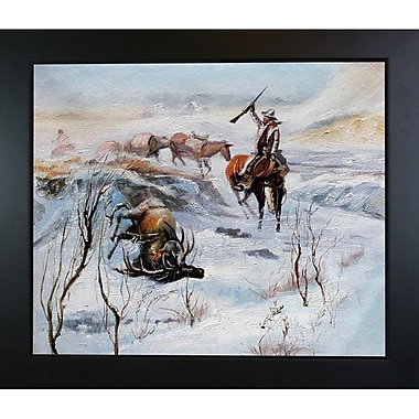 Tori Home Christmas Dinner for the Men on the Trail by Charles Marion Russell Framed Painting Print