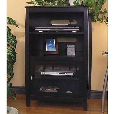 Wildon Home Veneto Audio Cabinet Black Staples 174