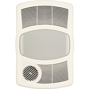 Broan 100 CFM Exhaust Bathroom Fan w/ Heater; Flourescent