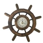 Creative Motion 11.42'' Wooden Clock in Steering Wheel Design
