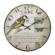 Creative Motion 13.38'' Wall Clock in Hope and Bird Design