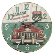 Creative Motion 13.38'' Wall Clock in Route 66 and Car Design