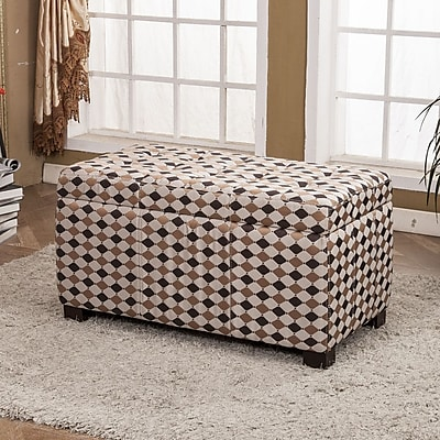 Bellasario Collection Classic Upholstered Storage Entryway Bench