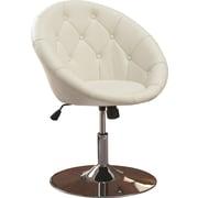 Roundhill Furniture Noas Contemporary Tufted Back Tilt Swivel Barrel Chair; White