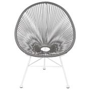 Joseph Allen Acapulco Woven Basket Lounge Chair; Gray
