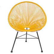 Joseph Allen Acapulco Woven Basket Lounge Chair; Yellow