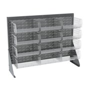 Akro Mils 39.88'' H Twelve Shelf Low Profile Floor Rack; Gray/Blue