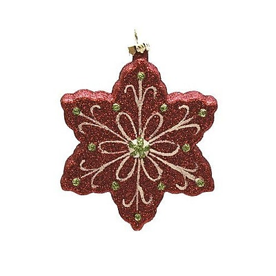 Northlight Merry and Bright Glitter Shatterproof Snowflake