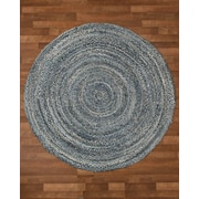 Natural Area Rugs Brasilia Cotton Hand Woven Natural Area Rug; Round 6'