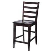 TTPFurnish Counter Height Side Chair (Set of 2); Cappuccino