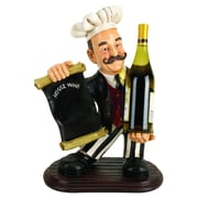 Woodland Imports Chef w/ Menu 1 Bottle Tabletop Wine Rack