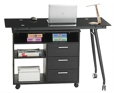 Inland ProHT L-Shape Computer Desk w/ 3 Drawers; Chocolate Brown WYF078279339593