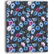 DesignArt Multi Color Corn Flowers Floral Painting Print on Wrapped Canvas; 20'' H x 12'' W x 1'' D