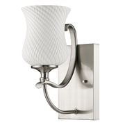 Acclaim Lighting Evelyn 1 Light Bath Sconce; Satin Nickel