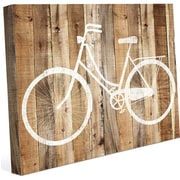 Click Wall Art 'Bicycle Wood' Wall Art on Wrapped Canvas; 30'' H x 40'' W x 1.5'' D