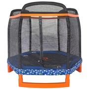 JumpPower 88'' Hexagon Indoor/Outdoor Trampoline with Safety Enclosure
