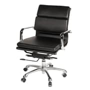 Joseph Allen Eames Leather Desk Chair; Black