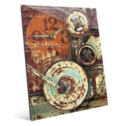 Click Wall Art 'Industrial Wheels' Graphic Art; 24'' H x 20'' W x 1'' D