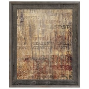 Click Wall Art 'Grungy Typography' Framed Graphic Art; 33.5'' H x 23.5'' W x 1'' D