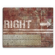 Click Wall Art 'Grungy Rust Right Arrow' Graphic Art on Plaque; 16'' H x 20'' W x 1'' D