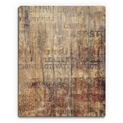 Click Wall Art 'Grungy Typography' Graphic Art  on Plaque; 20'' H x 16'' W x 1'' D