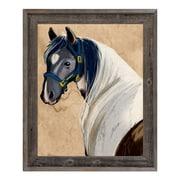 Click Wall Art 'Horse Portrait' Framed Painting Print; 23.5'' H x 19.5'' W x 1'' D